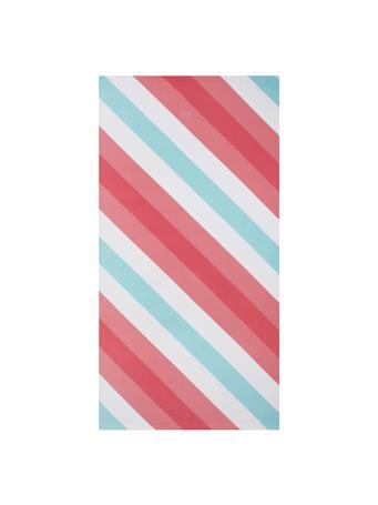 BEACH TOWEL -    Gradient & Diagonal Stripe PINK
