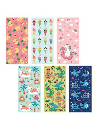 BEACH TOWEL -   Fun Velour Beach Towels for Kids PINK