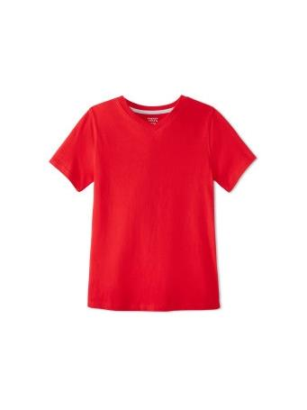 FRENCH TOAST - Short Sleeve V-Neck Tee RED