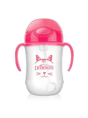 DR. BROWN'S - Baby Spout First Straw Cup Pink NO COLOR