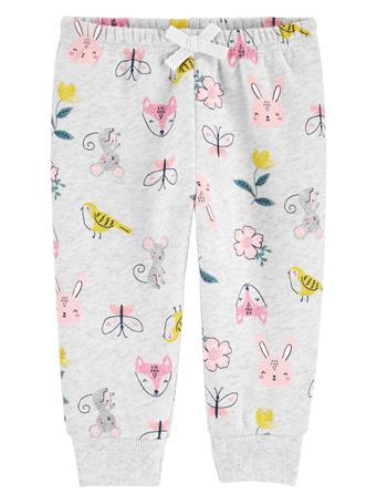 CARTER'S - Floral Fleece Pants  NOVELTY