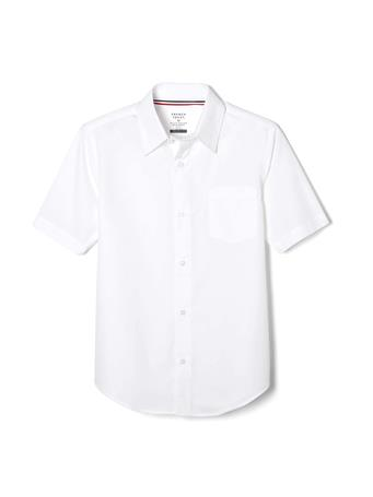 FRENCH TOAST - (Husky) Short Sleeve Shirt with Expandable Collar WHITE