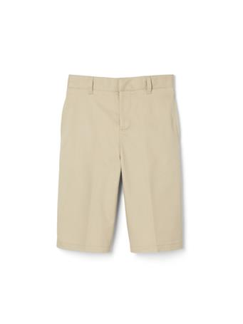 FRENCH TOAST - Flat Front Adjustable Waist Short KHAKI