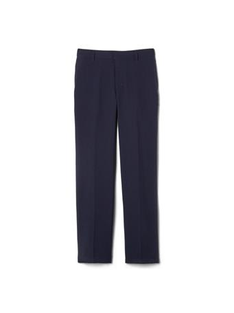 FRENCH TOAST - (Husky) Adjustable Waist Plain Front Uniform Pants NAVY