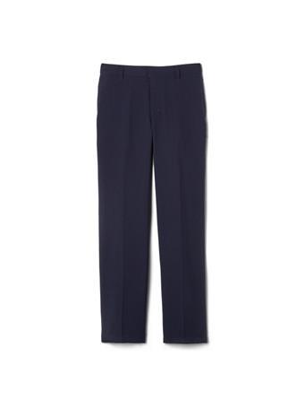 FRENCH TOAST - (Husky) Adjustable Waist Plain Front Uniform Pants NAVY