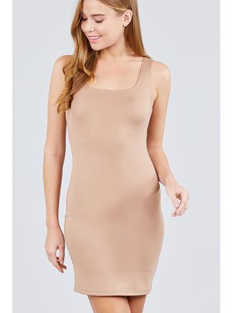ACTIVE BASIC - Tank Dress KHAKI