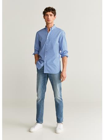 MANGO - Vichy Shirt 50BLUE