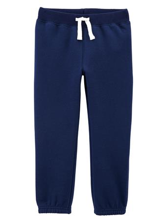 CARTER'S - Pull-On Fleece Pants - Toddler Boy  NAVY