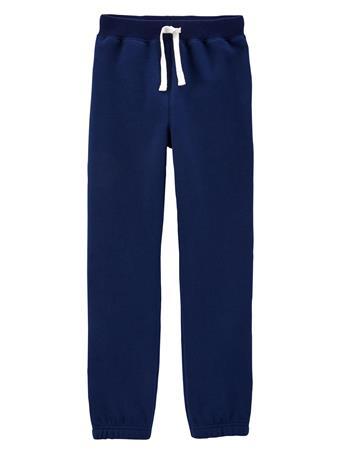 CARTER'S - Pull-On Fleece Pants - Boy 5-8  NAVY