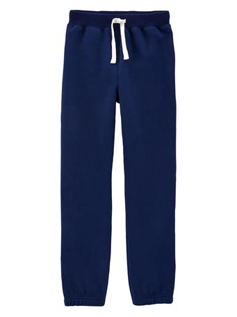 CARTER'S - Pull-On Fleece Pants - Boy 5-8  NAVY