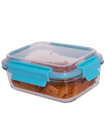 HOME BASICS - 35 oz. Leak and Spill Proof Glass Food Storage Container No Color