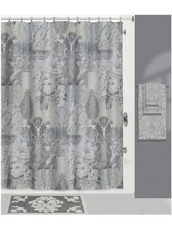 CREATIVE BATH - Heirloom Shower Curtain Collection GREY