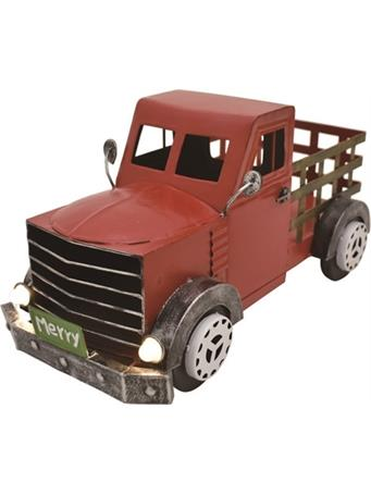 TRANSPAC - Metal Light Up Red Truck RED