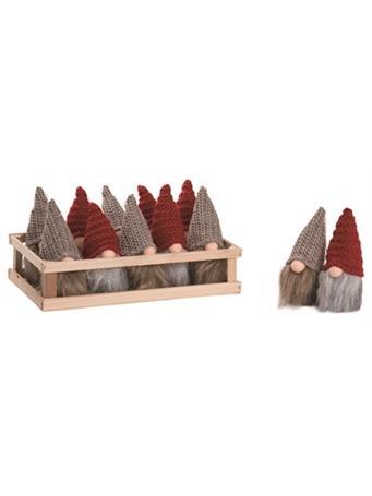 TRANSPAC - Plush Santa Gnome Ornament NOVELTY