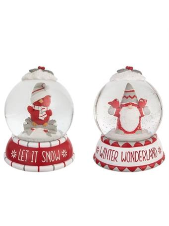 TRANSPAC - Whimsy Gnome Snow Globe RED
