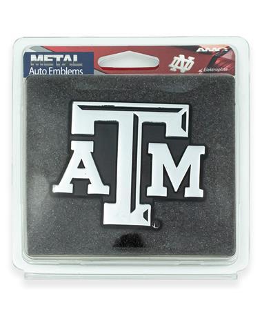 Texas A&M Beveled ATM Car Emblem