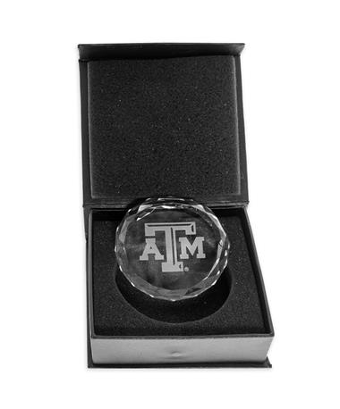 Texas A&M Aggie Faceted Paperweight