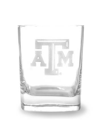 Texas A&M Campus Crystal Double Old Fashioned Glass