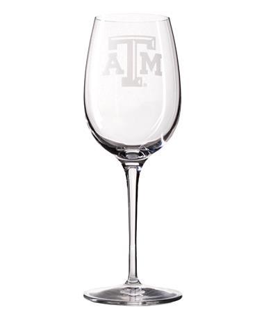 Texas A&M Luigi Bormioli 12oz White Wine Glass