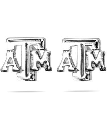 Texas A&M Emerson Street Silver ATM Logo Stud Earrings