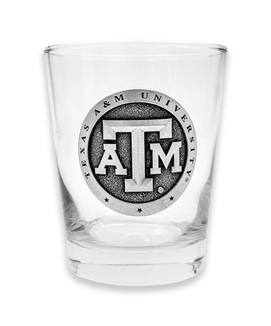 Texas A&M Heritage Pewter Capitol Glass