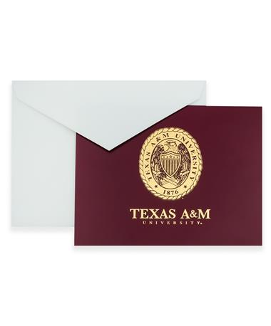 Texas A&M Ring Crest Foil Notes
