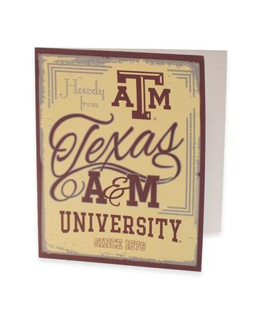 Texas A&M Howdy From Texas A&M Cards