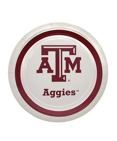 Texas A&M Aggie 9 Inch Plates