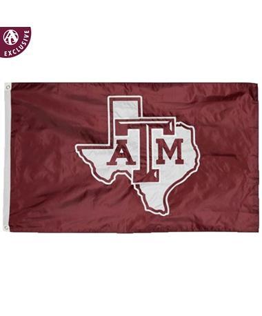 Texas A&M Aggie Maroon Lone Star Flag