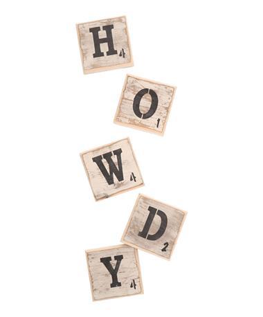 Scrabble Letters Symbols Wall Tile