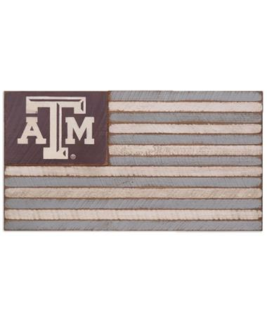 Texas A&M Aggie Medium Wooden Flag