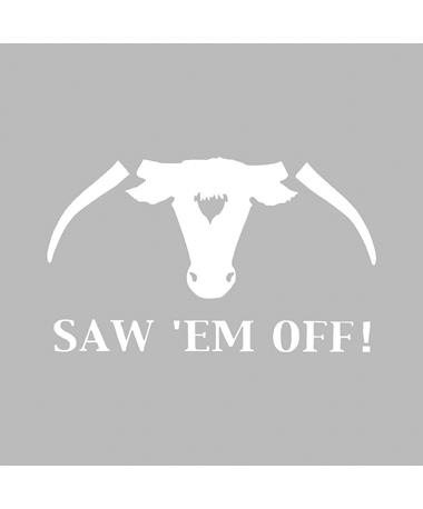 Texas A&M Saw 'Em Off Small Decal