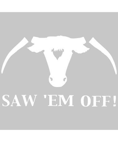 Texas A&M Saw 'Em Off XL Decal