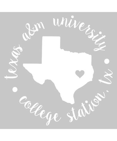Texas A&M Love Circle Decal