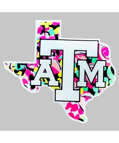 Texas A&M Aggie Floral Lone Star Decal