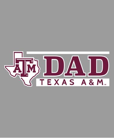 Texas A&M Aggie Lone Star Dad Car Decal