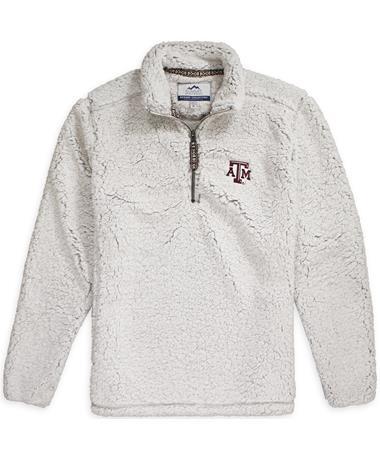 Texas A&M Quarter Zip Sherpa Pullover