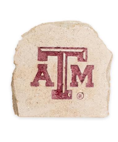Texas A&M 7 X 7 Engraved Decorative Stone