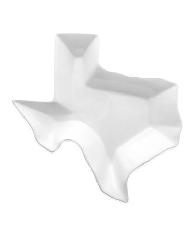 """Texas Shaped White 10"""" Platter"""