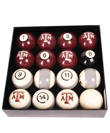 Texas A&M Numbered Billiard Ball Set