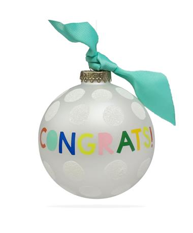Coton Colors Congrats Ornament