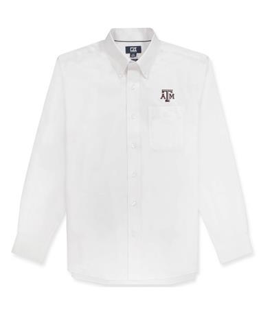 Texas A&M Cutter & Buck Epic Nailshead Button Down Shirt