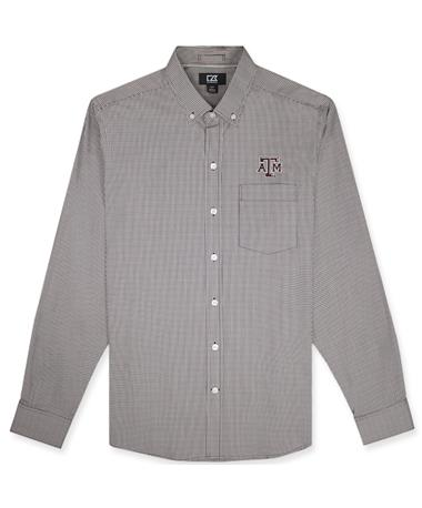 Texas A&M Cutter & Buck Casey Long Sleeve Button Down