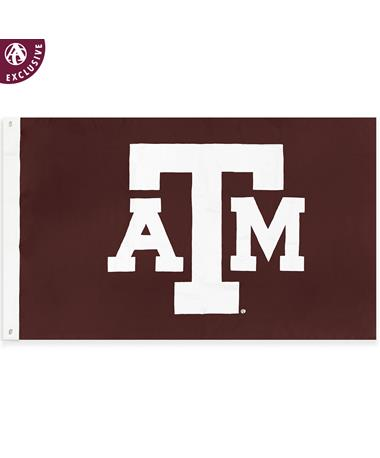 Texas A&M Double Sided Block ATM Flag