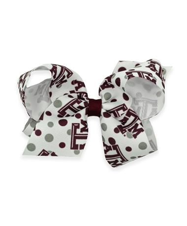 Texas A&M Small College Print Bow