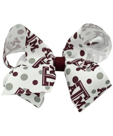 Texas A&M Large College Print Bow