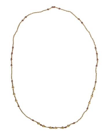 Adera All Gold Ammo Dip Long Necklace