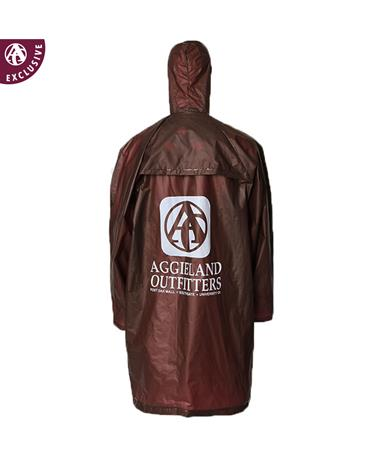Aggieland Outiftters Maroon Poncho with Hood