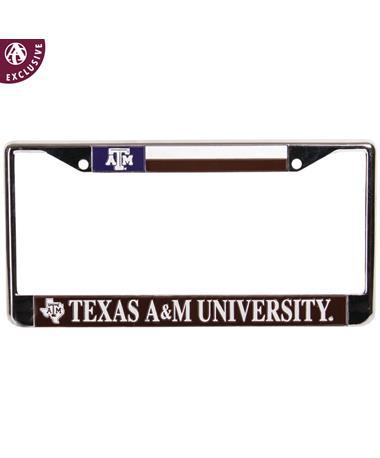 Texas A&M Texas Flag License Plate Frame