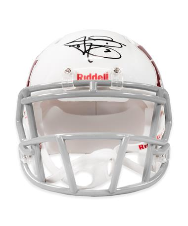 Johnny Manziel Signed White Riddell Mini Helmet